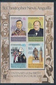 D202550 Sir Winston Churchill S/S MNH St.Christopher Nevis Anguilla