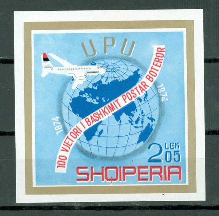 ALBANIA 1974 UPU...#1603 SOUV. SHEET...MNH...$25.00
