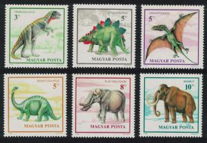 Hungary Prehistoric Animals 6v SG#4001-4006 MI#4110-4115