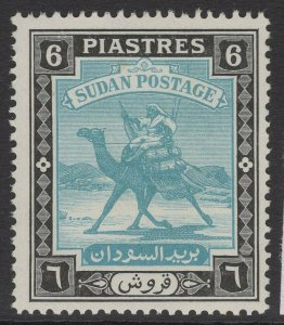 SUDAN SG107 1948 6p GREENISH BLUE & BLACK MNH