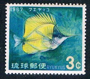 Ryukyu 153 MNH Forceps fish 1966 (R0594)+