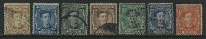 Spain 1876 values to 10 pesetas used