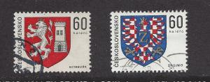 Czechoslovakia, 2000-01, Coat of Arms Type Singles, Used