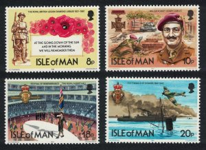 Isle of Man Royal British Legion 4v 1981 MNH SG#205-208