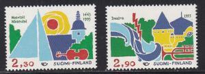 Finland # 912-913. Tourism, 1/2 Cat.