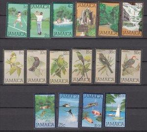 J27469 1979-80 jamaica set mh/mhr #465-81 designs