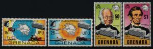 Grenada 383-6 MNH UPU, Train, Rowland Hill, Ship, Abraham Lincoln