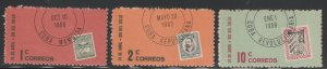 1961 Cuba Stamps Sc 670-672 Stamps Day Complete Set MNH