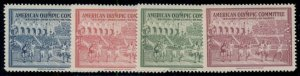 AMERICAN OLYMPIC COMMITTEE CINDERELLAS PRINTED FOR 1940 OLYMPICS, OG,NH,VF