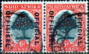 South Africa 1938 6d Green & Vermilion SG024c (II) Fine Used (6)