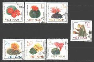 Vietnam. 1985. 1546-52. Cacti. USED.