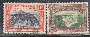 SOUTHERN RHODESIA SC# 37+57  **USED**  1935+1941   SEE SCAN