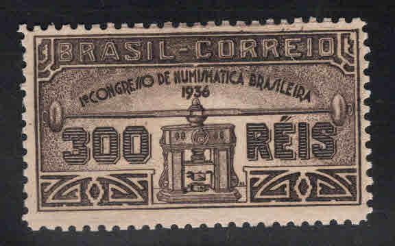 Brazil Scott 421 MH* 1936 Coin press stamp
