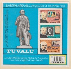 Tuvalu Scott #124a Stamps - Mint NH Souvenir Sheet
