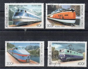 CONGO - TRAINS - 1990 - Stamped -