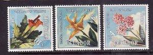 Equador-Sc#C508-10-unused NH set-Flowers-Flora-1972-