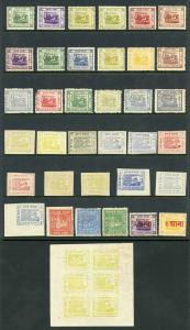 IFS JAIPUR Collection inc varieties (41 stamps)