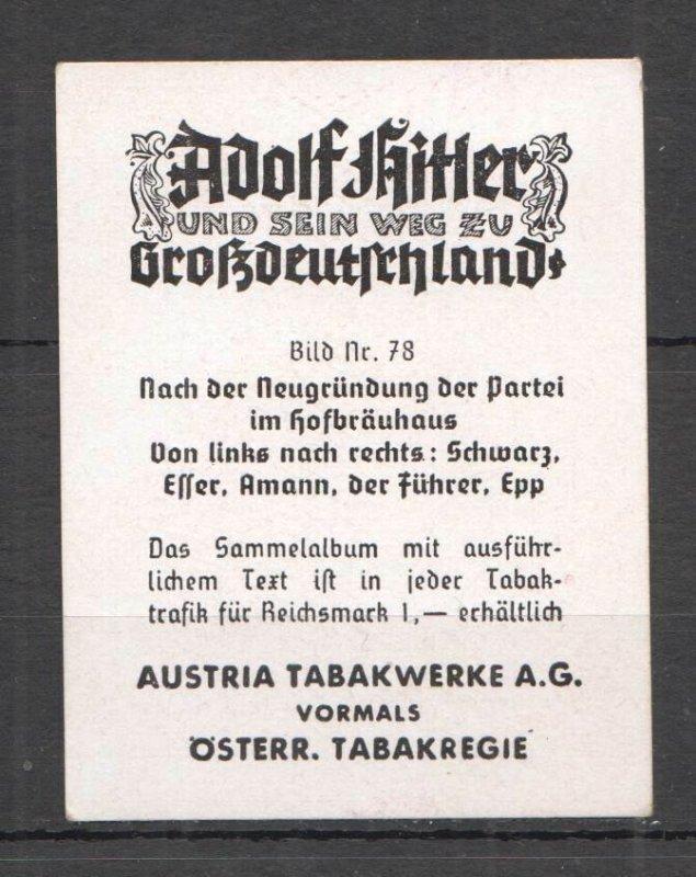 H0797 DEUTSCHES REICH HITLER WORLD WAR II WWII RARE PHOTOGRAPHS CIGARETTE CARDS