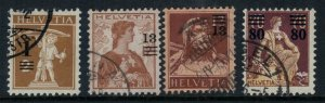 Switzerland #186-9 CV $28.90  overprints