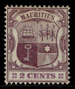 MAURITIUS QV SG139, 2c dull purple & bright purple, M MINT.