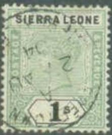 Sierra Leone 1896 Scott 43 Queen Victoria used