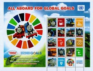 United Nations - New York Scott 1202 (2018) Global Goals Mint NH VF C