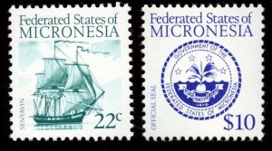 Micronesia - Sc# 34, 39.  MNH.  2017 SCV $15.35