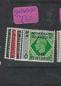 MOROCCO AGENCIES  (P2308B)  KGVI  ON GB SG 165-170   MOG