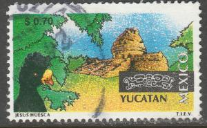 MEXICO 2120, $0.70 Tourism Yucatan, bird, archeology. USED. F-VF. (1493)