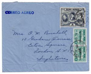 (I.B) Peru Postal : Air Mail Cover (1952)
