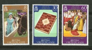 Virgin Islands # 317-19 QE II Silver Jubilee (3) Mint NH