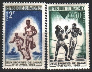 Benin. 1963. 213-15 from the series. Sports games in Dakar. MNH.