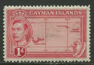 Cayman Islands - Scott 102- KGVI Definitive -1938-43 - MH- Single 1d Stamp