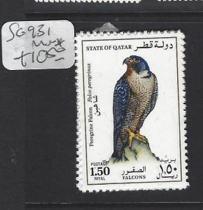 QATAR  (PP1906B)   1.5 R  BIRD  SG 931  MNH