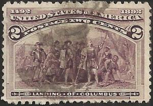 # 231 BROWN VIOLET USED LANDING OF COLUMBUS