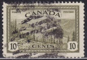 Canada 269 Hinged 1946 Great Bear Lake, Mackenzie Delta 10¢
