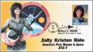 18-229, 2018, Sally Ride, Pictorial Postmark, Event Cover, Suffern NY,