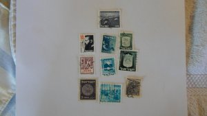 ISRAEL STAMPS MIXED CONDITION. LOT OF 10 STAMPS ( 5