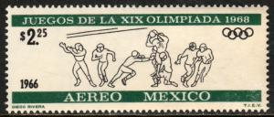 MEXICO C319, $2.25P 2nd Pre-Olympic Issue - 1966 MINT, NH. VF.