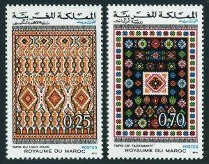 Morocco 270-271,lightly hinged.Mi 759-760. Rugs,1973.High Atlas & Tazenakht rugs
