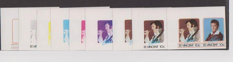 ST.VINCENT  STAMPS MNH OF ELVIS PRESLEY.LOT#448-A-B-C-