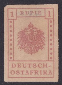 GERMAN EAST AFRICA 1916 Wuga Provisional 1R PHOTO CERTIFICATE
