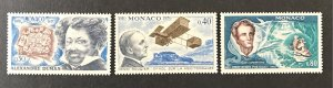 Monaco 1970 #778-80, MNH, CV $1.05