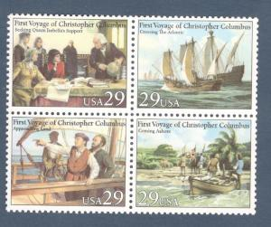 2620-23 Voyages Of Columbus Block Of 4 Mint/nh (Free Shipping)