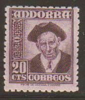 Spanish Andorra #40 Mint
