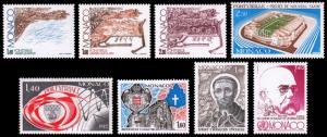 Monaco Scott 1331-1333, 13354, 1335, 1338, 1339, 1340 (1982) Mint NH VF