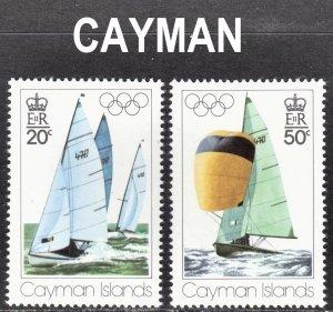 Cayman Islands 1976 Montreal Olympics Scott 377-78 F to VF mint OG NH.