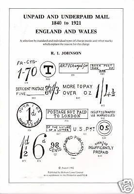 Unpaid & Underpaid Mail 1840-1921 England & Wales, NEW