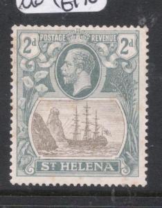 St Helena SG 100a Broken Mast Flaw MOG (7dmc)