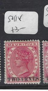 MAURITIUS   (P0810B)    QV    2C      SURCH    SG 118     MOG